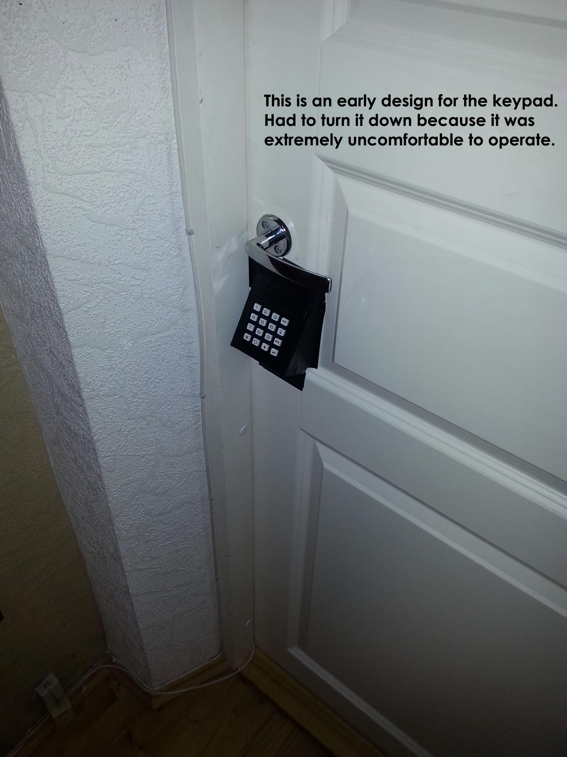 Keypad operated door lock
